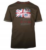 T-shirt manche courte vert olive de 3XL à 8XL