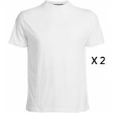Pack de 2 tee-shirts blanc de 2XL à 8XL