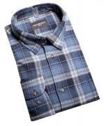 Chemise manche longue flanelle carreaux bleu  de 2XL à 5XL