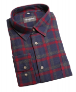 Chemise manche longue flanelle carreaux marine rouge de 2XL à 5XL