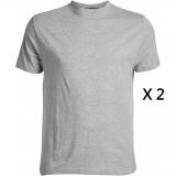 Pack de 2 tee-shirts gris chiné de 3XL à 8XL
