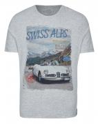 T-shirt manche courte gris chiné 3XL à 8XL