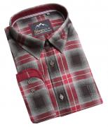 Chemise manche longue carreaux Noir blanc rouge de 3XL à 6XL