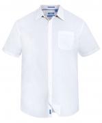 Chemise blanche manche courte de 3XL à 8XL