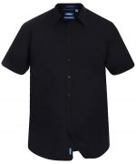 Chemise noire manche courte de 3XL à 8XL