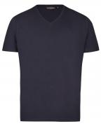 T-shirt manches courtes col en V bleu marine 4XL à 10XL