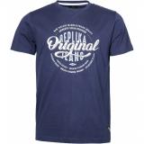T-shirt manche courte bleu marine délavé 3XL à 8XL