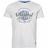 T-shirt manche courte gris chiné délavé 3XL à 8XL