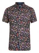 Chemise manche courte Hawaïenne noir de 3XL à 6XL