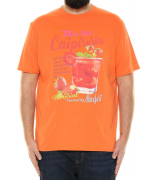 T-shirt manche courte orange de 3XL à 10XL