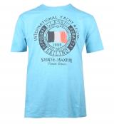 T-shirt manche courte bleu ethéré 3XL à 8XL