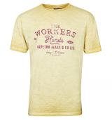 T-shirt Moutarde délavé de 3XL à 8XL