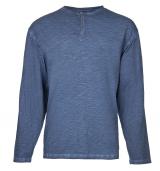 T-shirt bleu marine délavé de 3XL à 8XL
