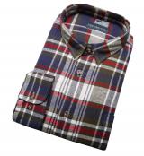 Chemise manche longue carreaux vert bleu rouge de 2XL à 5XL