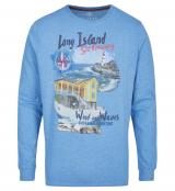 T-shirt manche longue bleu cobalt clair 3XL à 8XL