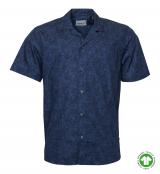 Chemise manche courte bleu marine 2XL à 6XL coton responsable