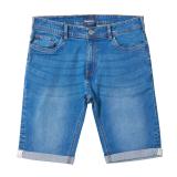 Short jeans denim stretch bleu clair délavé grande taille 38US - 62US