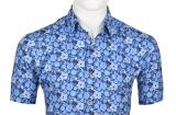 Chemise bleue manche courte de 3XL à 6XL