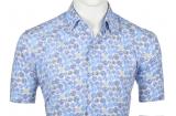 Chemise bleu clair manche courte de 3XL à 6XL