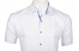 Chemise lin blanche manche courte de 3XL à 6XL