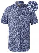 Chemise hawaïenne bleu de 3XL à 6XL