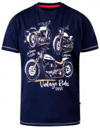 T-shirt bleu marine manche courte de 3XL à 8XL
