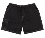 Bermuda jeans taille élastiquée noir délavé de 4XL à 12XL