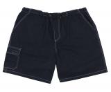Bermuda jeans taille élastiquée bleu foncé délavé de 4XL à 12XL