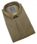Chemise manche courte petits motifs Jaune de 2XL à 6XL