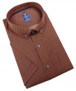 Chemise manche courte petits motifs orange de 2XL à 6XL