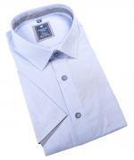 Chemise manche courte bleu clair de 2XL à 6XL