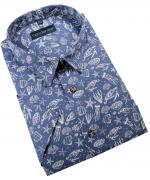 Chemise manche courte bleue de 2XL à 5XL