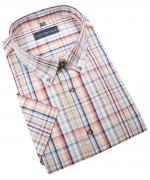 Chemise manche courte carreaux rouge de 2XL à 5XL