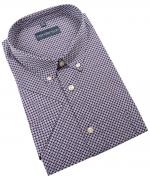 Chemise manche courte motifs bleu marine de 2XL à 5XL