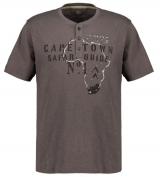 T-shirt manche courte col boutonné gris anthracite 3XL à 8XL