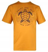 T-shirt manche courte ocre de 3XL à 10XL