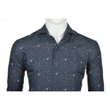 Chemise bleu marine manche longue de 2XL à 6XL