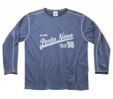 T-shirt longue manche bleu clair de 2XL à 8XL