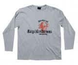 T-shirt manches longues imprimé rock gris clair de 2XL à 7XL