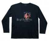 T-shirt manches longues imprimé rock noir de 2XL à 7XL