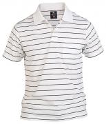 Polo blanc  ligné noir Col boutonné de 1XL à 4XL
