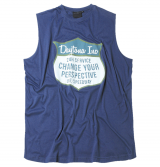 T-shirt imprimé bleu de 2XL à 6XL
