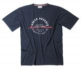 T-shirt manche courte bleu marine de 2XL à 7XL