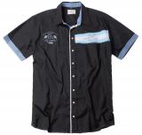Chemise noir et bleu manche courte sport de 2XL à 7XL