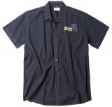 Chemise bleu marine manche courte sport de 2XL à 7XL