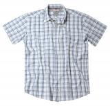 Chemise à carreaux blanc et bleu clair manche courte de 2XL à 6XL