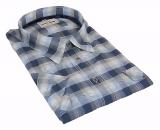 Chemise manche courte carreaux bleu et blanc de 3XL à 6XL