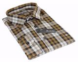 Chemise Fashion carreaux blanc brun et gris de 46 2XL à 52 5XL