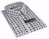 Chemise Fashion Motif carré noir et blanc de 48 3XL à 54 6XL