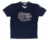 T-shirt manche courte motif nautique bleu marine de 3XL à 6XL